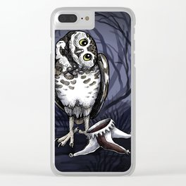 Owl Deck: Red Joker Clear iPhone Case
