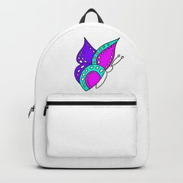 childishly Hand drawn butterfly Backpack