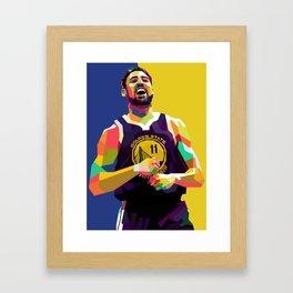 Klay Thompson WPAP Framed Art Print