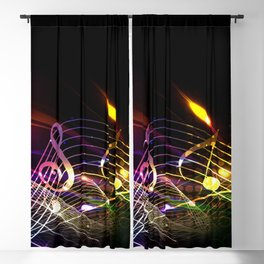 Music Notes in Color Blackout Curtain
