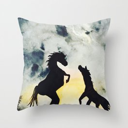 Horse Spirit Throw Pillow