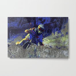 Trail Blazer Motocross Rider Metal Print