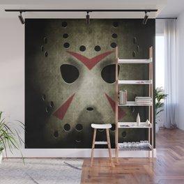 Slasher Hockey Mask Wall Mural