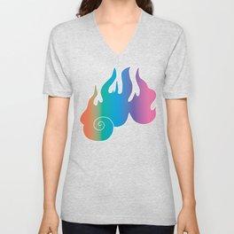 Rainbow Flame of God's Wrath Unisex V-Neck