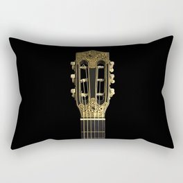 Black Gold Rectangular Pillow