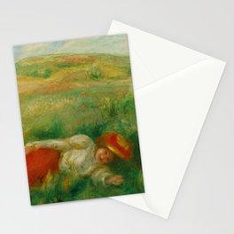 "Auguste Renoir ""Femme couchée dans l'herbe"" Stationery Cards"