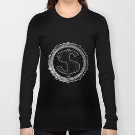 Dollar Rubber Stamp Long Sleeve T-shirt