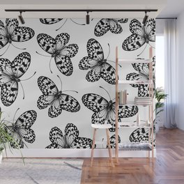 Paper kite butterfly pattern Wall Mural
