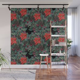 Christmas Floral pattern Wall Mural