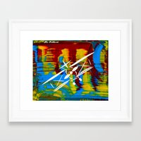 airplane Framed Art Prints featuring Airplane by Lue Brentwood