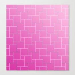 PINK BRICKS Canvas Print