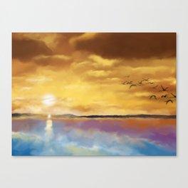 Sunset Travelers Canvas Print
