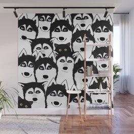 Huskies Wall Mural