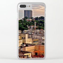 Aerial view of a low income community Clear iPhone Case
