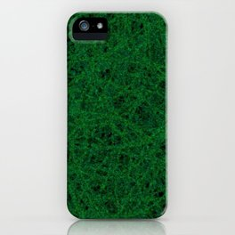 Emerald Green Thread Texture iPhone Case