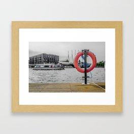 Bristol docks. Framed Art Print