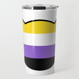 Non-Binary Flag Cat Travel Mug