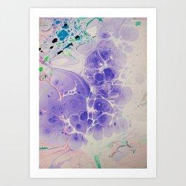 Purple Haze Marbleized print Art Print