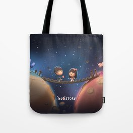 When Two Worlds Meet Tote Bag