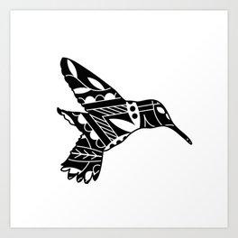HUMMINGBIRD MANDALA NO. 46 Art Print
