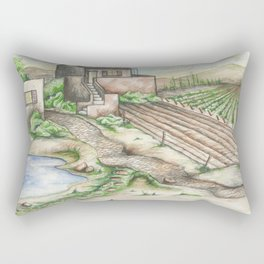 Italian Wine Country Rectangular Pillow