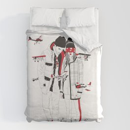 When sight is restricted, vision becomes clear. Duvet Cover