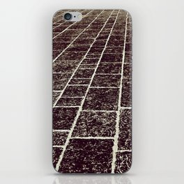 texture of the old stone paving iPhone Skin