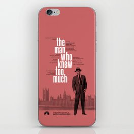 Hitchcock: The Man Who Knew Too Much iPhone Skin