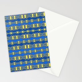 blue mosiac Stationery Cards