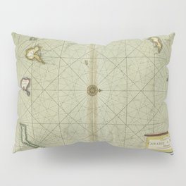 A chart of the CANARIE and MADERA Islands Pillow Sham