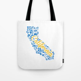 UCLA California Landmark State - Blue and Gold University Design Tote Bag