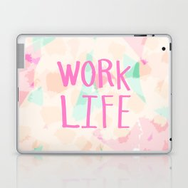 Work Life - soft abstract hand lettering Laptop & iPad Skin