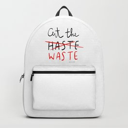 Cut The Waste Backpack