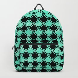 Aqua Mermaid Scales Pattern Backpack