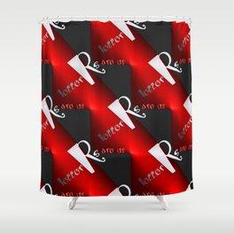 R - pattern again, 2 Shower Curtain