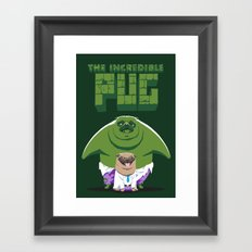 The Incredible Pug Framed Art Print