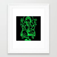 hindu Framed Art Prints featuring Hindu god by Littlefox