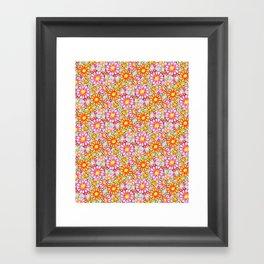 Summer Daisies Tiled Pattern Framed Art Print