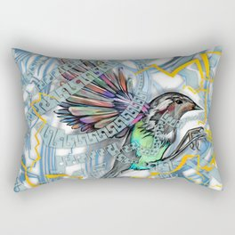 Songbird Trapped in a Cage of Its Expectations Rectangular Pillow
