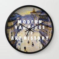 modern vampires of art history Wall Clocks featuring Modern Vampires by Modern Vampires of Art History