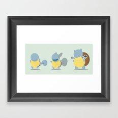 Evolution water poke Framed Art Print