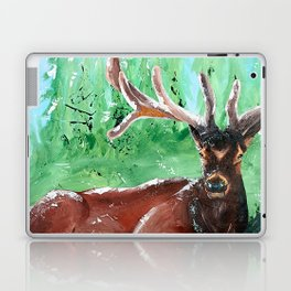 "Deer - Animal - ""Time to relax"" - by LiliFlore Laptop & iPad Skin"