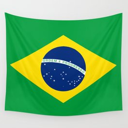 Flag of Brazil - Hi Quality Authentic version Wall Tapestry