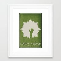lord of the ring Framed Art Prints featuring Lord of the Rings: The Fellowship of the Ring by Travis English