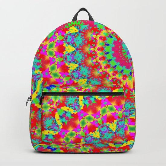 Kaleidoscope Vibrant Trippy Pattern Backpack