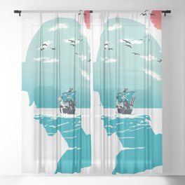 The King of Pirates Sheer Curtain