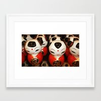 blink 182 Framed Art Prints featuring Blink by Debbie Chessell