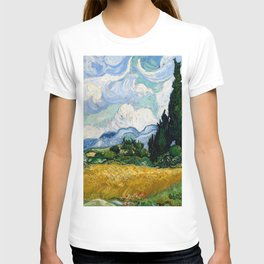 """Vincent van Gogh """"Wheat Field with Cypresses"""" T-shirt"""