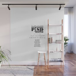 PTSD: Post Traumatic Stress Disorder Wall Mural
