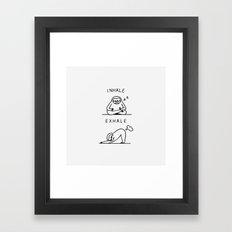 Inhale Exhale Sloth Framed Art Print